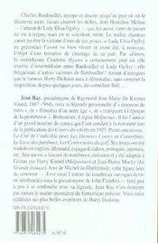 Harry Dickson t.3 ; l'affaire Bardouillet - 4ème de couverture - Format classique