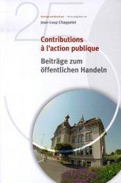 Contributions à l'action publique (beitrage zum offentlichenhandeln) - Intérieur - Format classique