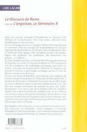Lire Lacan/Le Discours De Rome - 4ème de couverture - Format classique