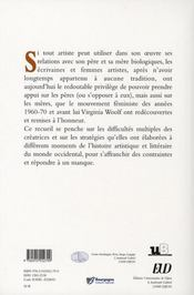 Création au feminin t.3 : filiations - 4ème de couverture - Format classique