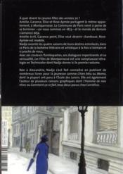 Les filles de Montparnasse t.1 ; un grand écrivain - 4ème de couverture - Format classique