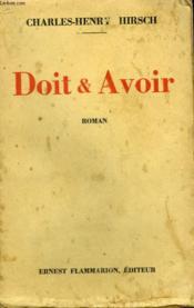 Doit Et Avoir. - Couverture - Format classique