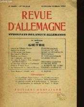 REVUE D'ALLEMAGNE - 6ème année - N°52 et 53 - Couverture - Format classique