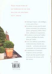Terrasses Et Balcons - 4ème de couverture - Format classique