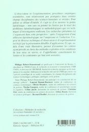 Methodes d'observation et d'experimentation - 4ème de couverture - Format classique