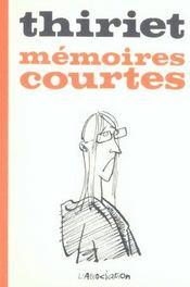 Memoires courtes - Intérieur - Format classique