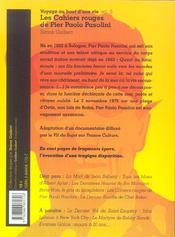 Voyage au bout d'une vie t.5 ; les cahiers rouges de pier paolo pasolini - 4ème de couverture - Format classique