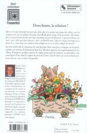 Deux Bouts La Relation - 4ème de couverture - Format classique