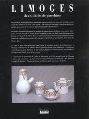 Limoges Deux Siecles De Porcelaine (1 Ed.) - 4ème de couverture - Format classique