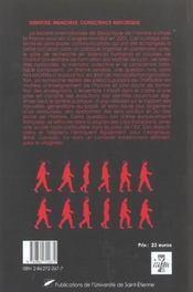 Identites Memoires Conscience Historique - 4ème de couverture - Format classique