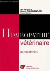 Homeopathie Veterinaire 2eme Edition - Couverture - Format classique