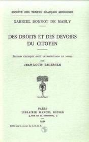 Des Droits Et Des Devoirs Du Citoyen - Couverture - Format classique