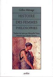 Histoire Des Femmes Philosophes De L'Antiquite - Couverture - Format classique