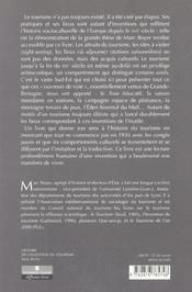 Histoire De L'Invention Du Tourisme - 4ème de couverture - Format classique