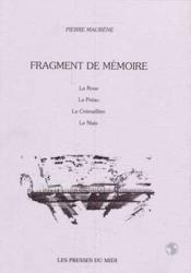 Fragment De Memoire - Couverture - Format classique