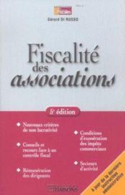Fiscalite Des Associations ; 5e Edition - Couverture - Format classique