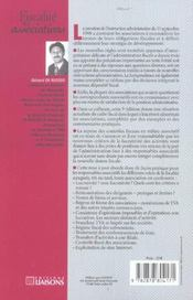 Fiscalite Des Associations ; 5e Edition - 4ème de couverture - Format classique