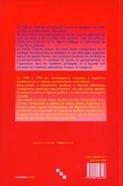 Pratique Constitutionnelle En France Et En Espagne 1958 Et 1978 A 199 9. 80 - 4ème de couverture - Format classique