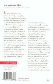 Une sociologie d'etat. l'ecole et ses experts en france - 4ème de couverture - Format classique