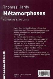 Métamorphose - 4ème de couverture - Format classique