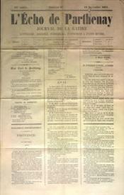 Echo De Parthenay (L') N°47 du 19/11/1871 - Couverture - Format classique