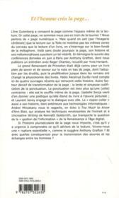 Revue Critique N.785 ; Et L'Homme Créa La Page... - 4ème de couverture - Format classique