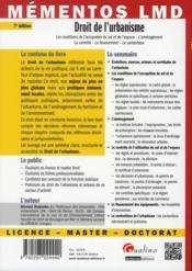 Droit de l'urbanisme (7e édition) - 4ème de couverture - Format classique