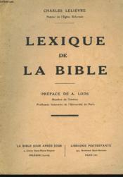 Lexique De La Bible - Couverture - Format classique