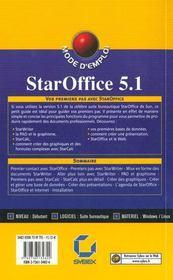 Staroffice 5.1 mode d'emploi - 4ème de couverture - Format classique