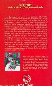 Tahitiennes - 4ème de couverture - Format classique