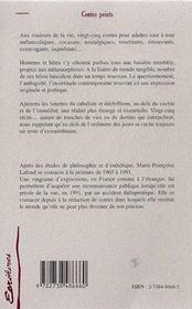 Contes Peints - 4ème de couverture - Format classique