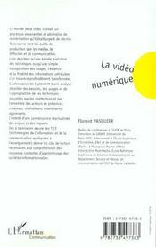 La Video Numerique - 4ème de couverture - Format classique