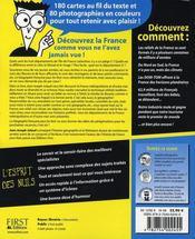 La géographie française pour les nuls - 4ème de couverture - Format classique