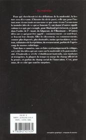 Revue L'Inactuel 07 - Du Nouveau - 4ème de couverture - Format classique
