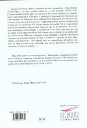 Histoire des colonies françoises de la Guianne - 4ème de couverture - Format classique