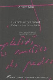 Alvaro Siza, Des Mots De Rien Du Tout - Intérieur - Format classique