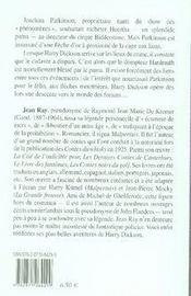 Harry Dickson t.5 ; on a tue Mr Parkinson - 4ème de couverture - Format classique