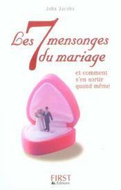 Les 7 Mensonges Du Mariage - Intérieur - Format classique