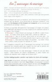 Les 7 Mensonges Du Mariage - 4ème de couverture - Format classique