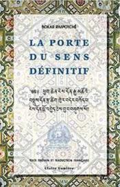 La Porte Du Sens Definitif - Couverture - Format classique