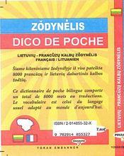 Dico de poche lietuviu-prancüzu / français-lituanien - 4ème de couverture - Format classique