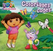 Dora l'exploratrice ; coloriages codés - Couverture - Format classique