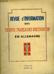 Revue D'Information Des Troupes Francaises D'Occupation En Allemagne - Numero 26 - Couverture - Format classique