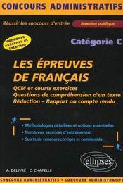 Les Epreuves De Francais Categorie C Concours Externes Et Internes Fonction Publique - Intérieur - Format classique