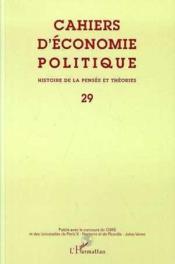 Cahiers D'Economie Politique - Histoire De La Pensee Et Theories - Couverture - Format classique