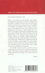 Ma Guerre D'Espagne A Moi Babel 356 - 4ème de couverture - Format classique