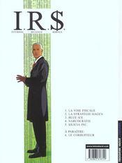I.R.$ t.5 ; sicilia inc. - 4ème de couverture - Format classique