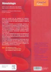 Hematologie - 4ème de couverture - Format classique