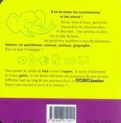 Quizz Junior - 4ème de couverture - Format classique