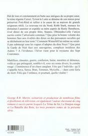 Le trône de fer t.4 ; l'ombre maléfique - 4ème de couverture - Format classique
